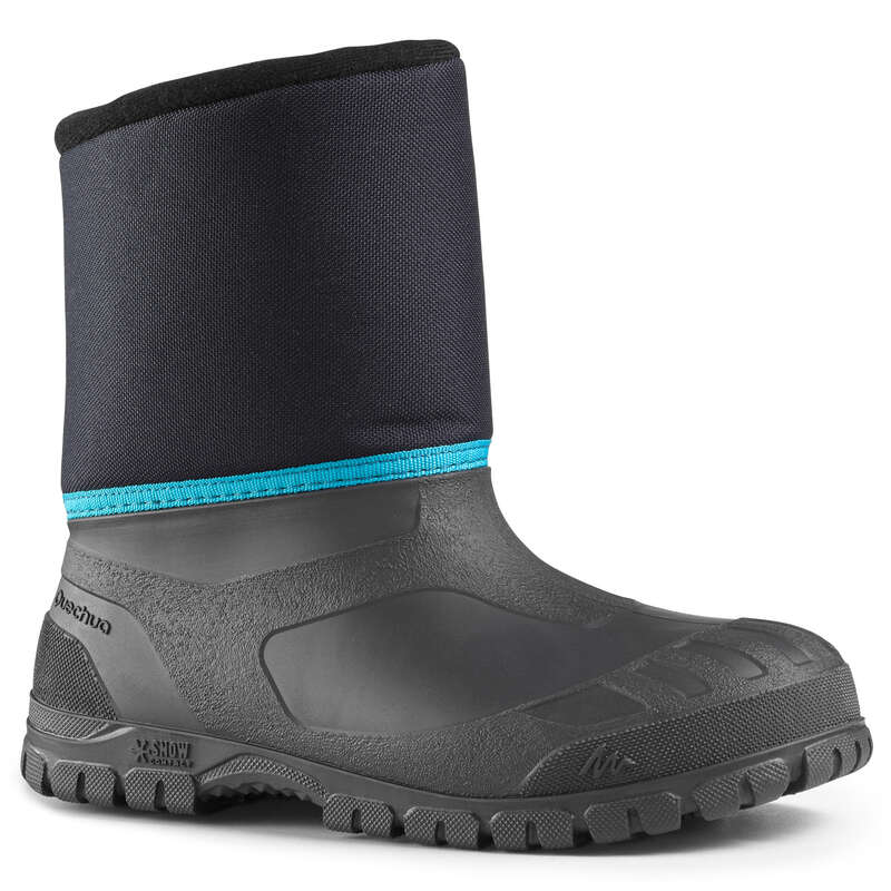 CHILDREN SNOW HIKING WARM SHOES & BOOTS Hiking - C BOOTS SH100 WARM - BLUE QUECHUA - Outdoor Shoes