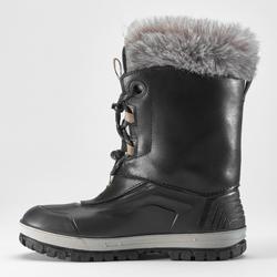 Bottes de randonnée neige enfant SH500 x-warm cuir noir