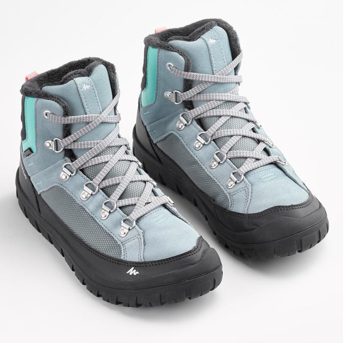 Winterschuhe Wandern SH500 Warm Wasserdicht Schnürsenkel Kinder Gr.33–38 grau