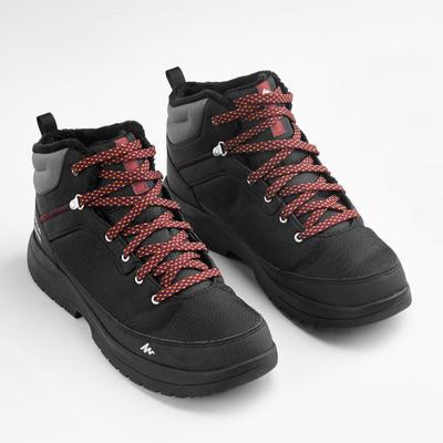 Чоловічі черевики SH100 WARM для зимового туризму, середньої висоти - Чорні