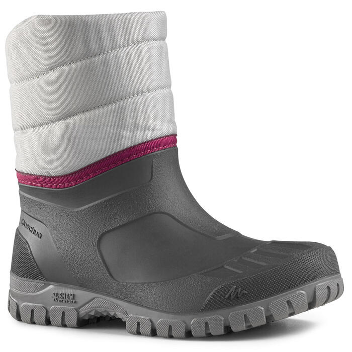 Schneestiefel Winterwandern SH100 Warm Damen grau