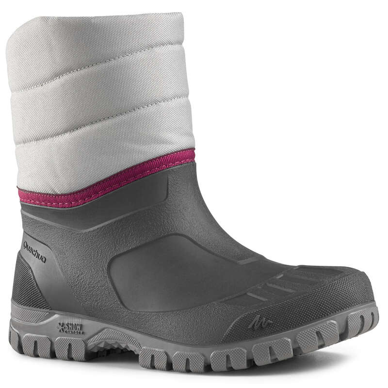 WOMEN SNOW HIKING WARM BOOTS Hiking - Arpenaz 50 Warm Women's Snow Boots - Grey QUECHUA - Outdoor Shoes