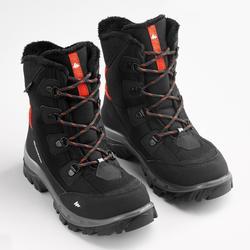 Botas de Caminhada impermeáveis SH500 Warm Criança - Preto