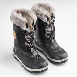 Botas de senderismo nieve júnior SH520 x-warm negro