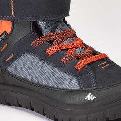 Children's warm hook & loop winter hiking boots SH500 warm mid - Blue