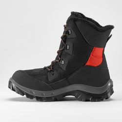Kids' Snow Walking Boots SH500 Warm High - black
