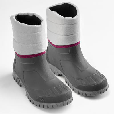 Botas de senderismo nieve mujer SH100 warm gris
