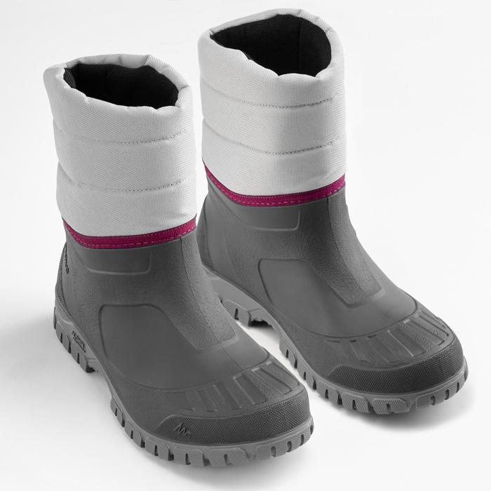 Snowboots dames SH100 Warm grijs