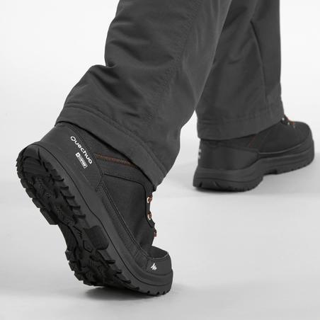 Men's Snow Hiking Mid Boots SH100 Warm - Black.