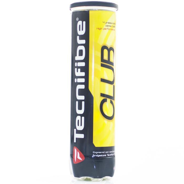 Tennisballen Club 2015 set van 4 geel