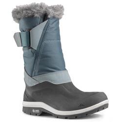 Warme waterdichte wandellaarzen voor de sneeuw dames SH500 X-Warm hoog zwart