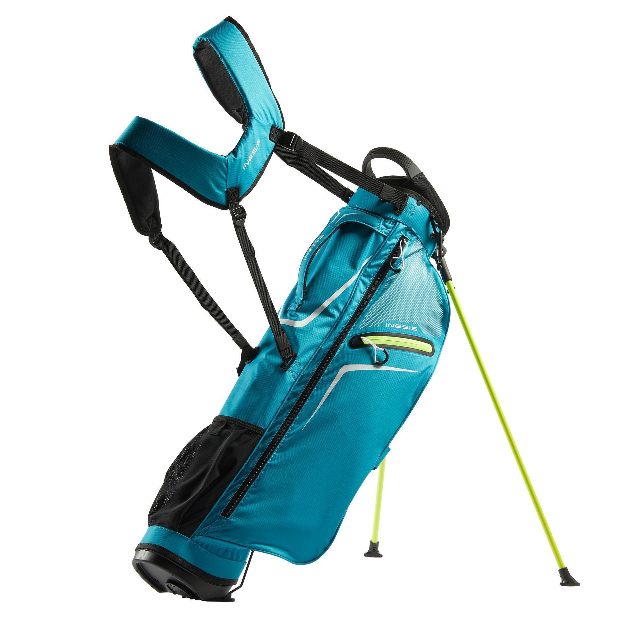 Inesis Standbag voor golf Ultralight turquoise kopen