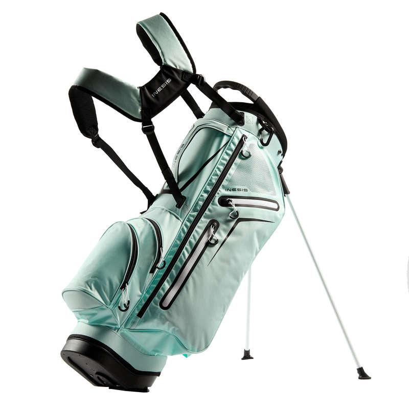 SACCHE GOLF STAND E CART Golf - Sacca treppiede LIGHT verde INESIS - Golf