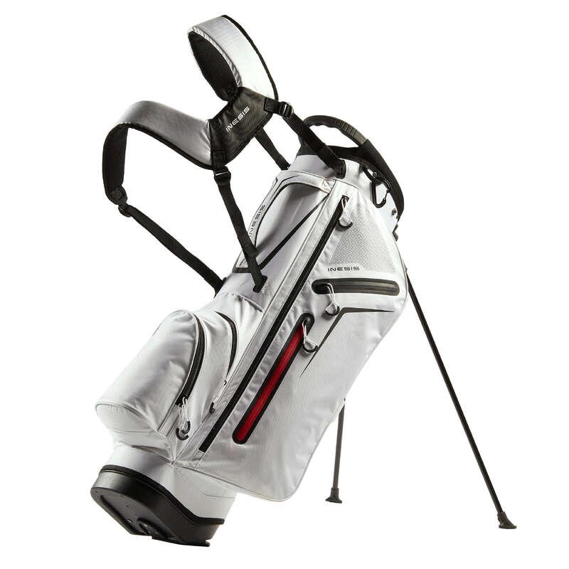 INTERMEDIATE & ADVANCED GOLF BAGS Golf - Golf Light Stand Bag - White INESIS - Golf