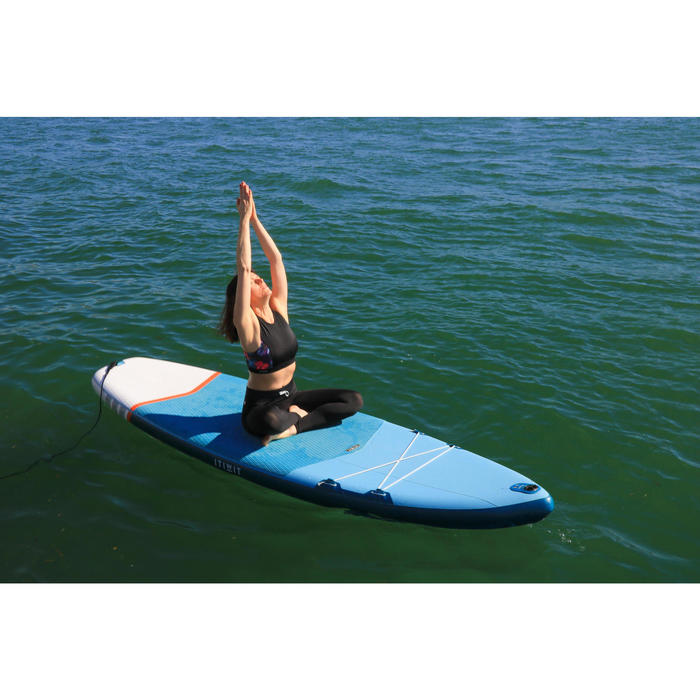 BEGINNER INFLATABLE TOURING STAND-UP PADDLE BOARD 11 FEET YELLOW