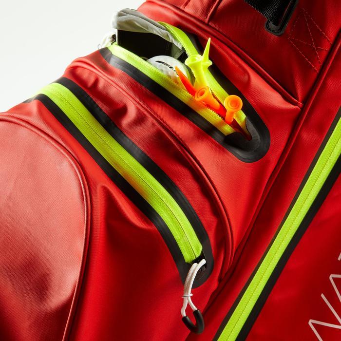 Waterdichte golftas rood/geel