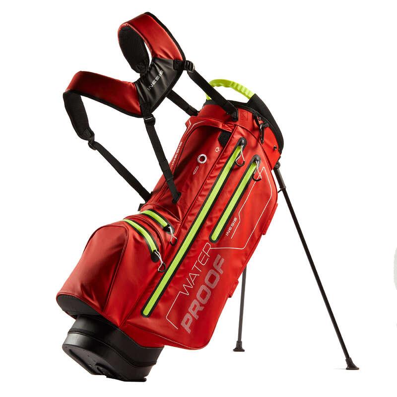 GOLFOVÉ TAŠKY Golf - GOLFOVÝ BAG WATERPROOF ČERVENÝ INESIS - Golf