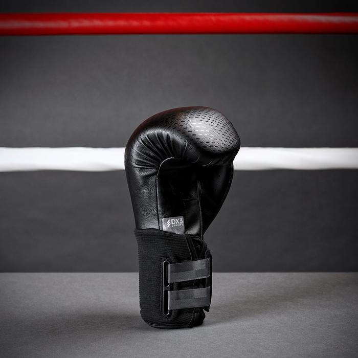 Bokshandschoenen 900 sparring zwart, geschikt voor gevorderden