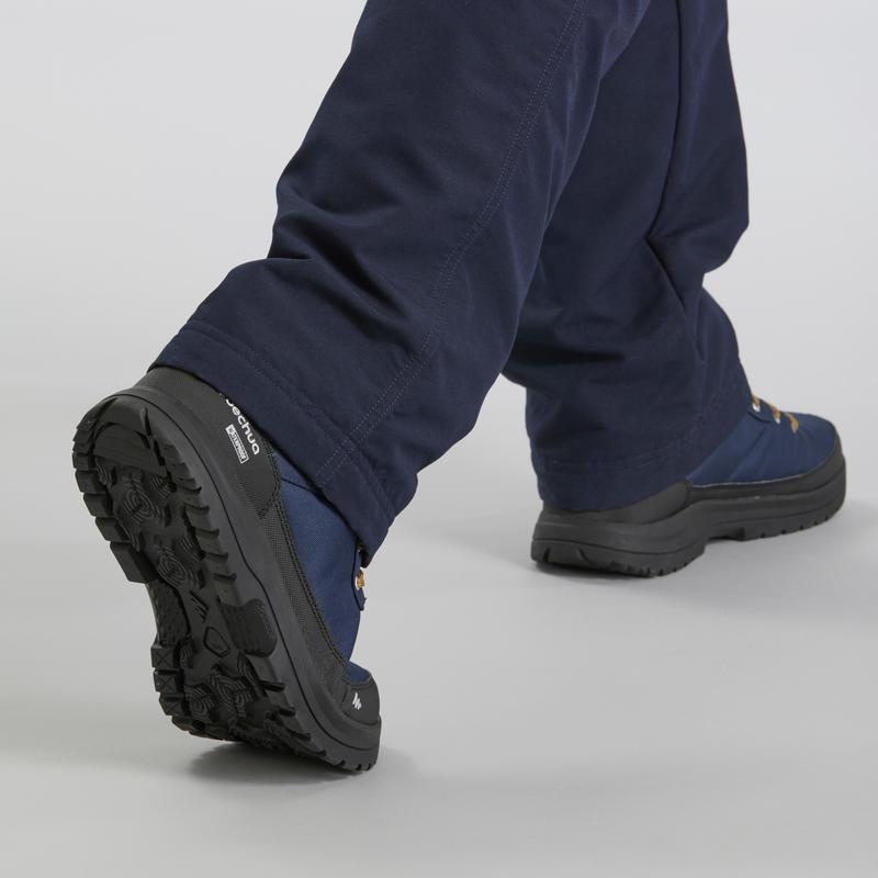 Chaussures de randonnée neige homme SH100 warm mid bleues.