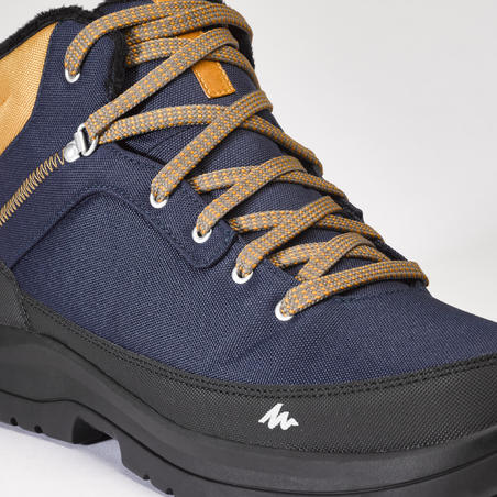 Men's mid warm snow hiking shoes SH100 - blue.