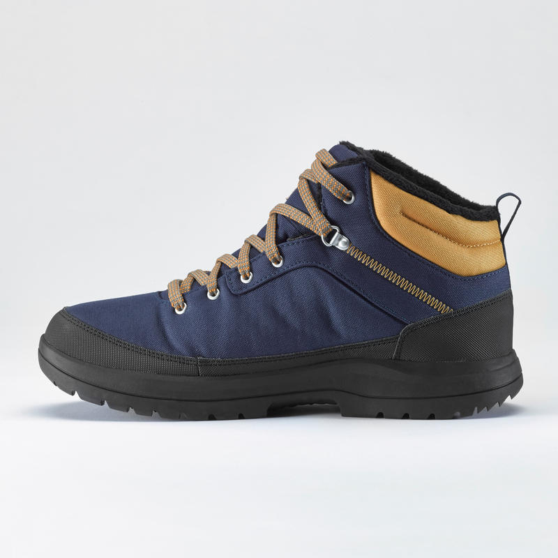 Men's mid warm snow hiking shoes SH100 - blue.