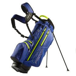 防水高爾夫球袋-藍色/黃色