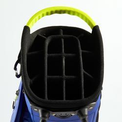 Waterdichte golftas blauw/geel
