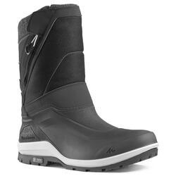 男款保暖健行靴SH500-黑色。