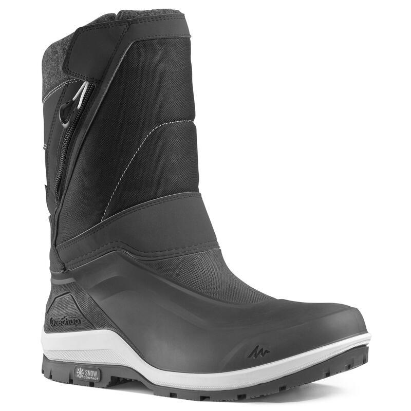 Warme waterdichte wandellaarzen voor de sneeuw heren SH500 X-warm rits