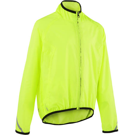 300 Kids' Waterproof Jacket - Yellow