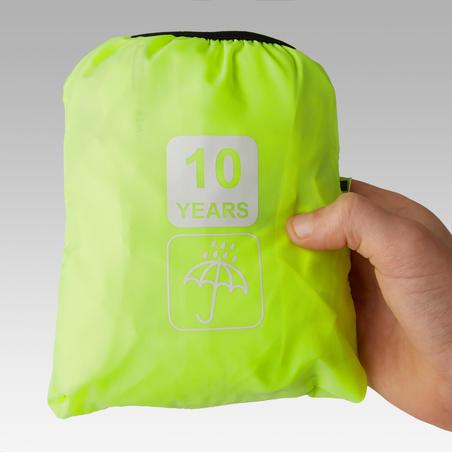 Veste imperméable de vélo 300 jaune - Enfants
