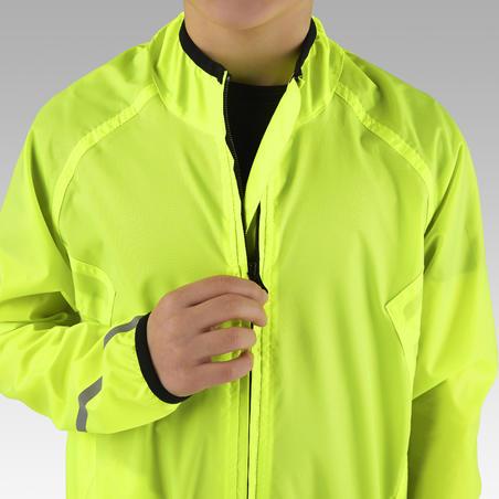 Дощовик дитячий 300 для велоспорту жовтий