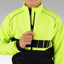 Fahrradjacke 500 Kinder schwarz/gelb