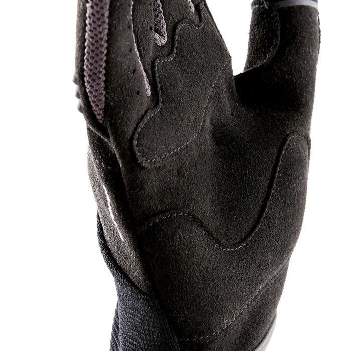 Handschuhe lang Kinder schwarz/grau