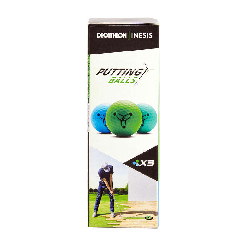 Accessori allenamento Golf - Pallina putting x3 INESIS - Palline e accessori golf