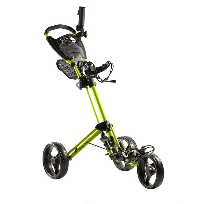 Golftrolley Compact 3-Rad gelb