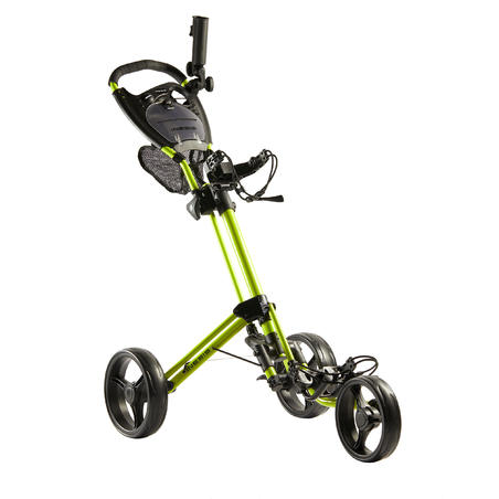THREE-WHEEL COMPACT GOLF TROLLEY - YELLOW