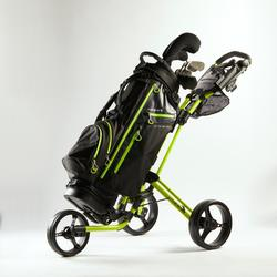 Driewiel golftrolley Compact geel