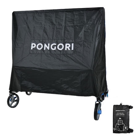 Table Tennis Folded Table Cover - Black