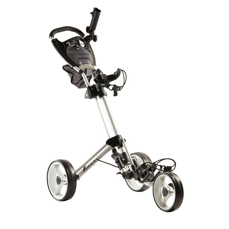 Golf Trolley Golf - Golftrolley Compact 3-Rad weiß INESIS - GPS, Taschen und Trolleys