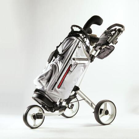 3-Wheel Compact Golf Cart - White