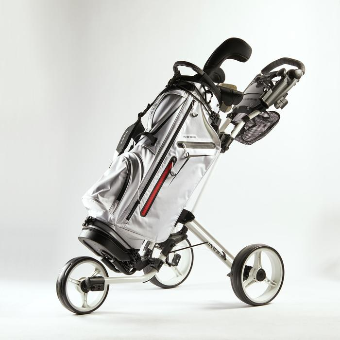 CHARIOT de GOLF 3 ROUES COMPACT BLANC