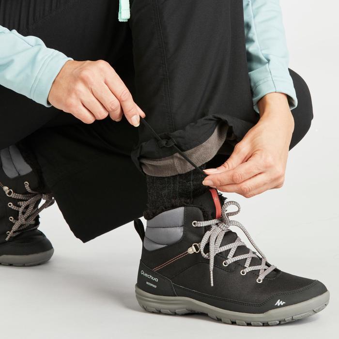 Pantalon chaud de randonnée femme SH100 ultra-warm noir