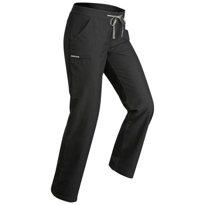 Warme wandelbroek dames SH900 Ultra-warm zwart
