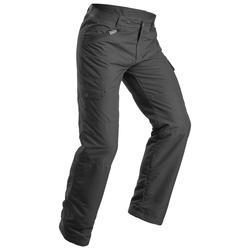 女款極致保暖雪地健行長褲SH100-灰色。