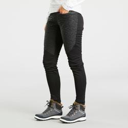 Legging chaud de randonnée femme SH500 warm noir