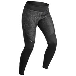 SH500女款冬季保暖健行防雪緊身褲-黑色