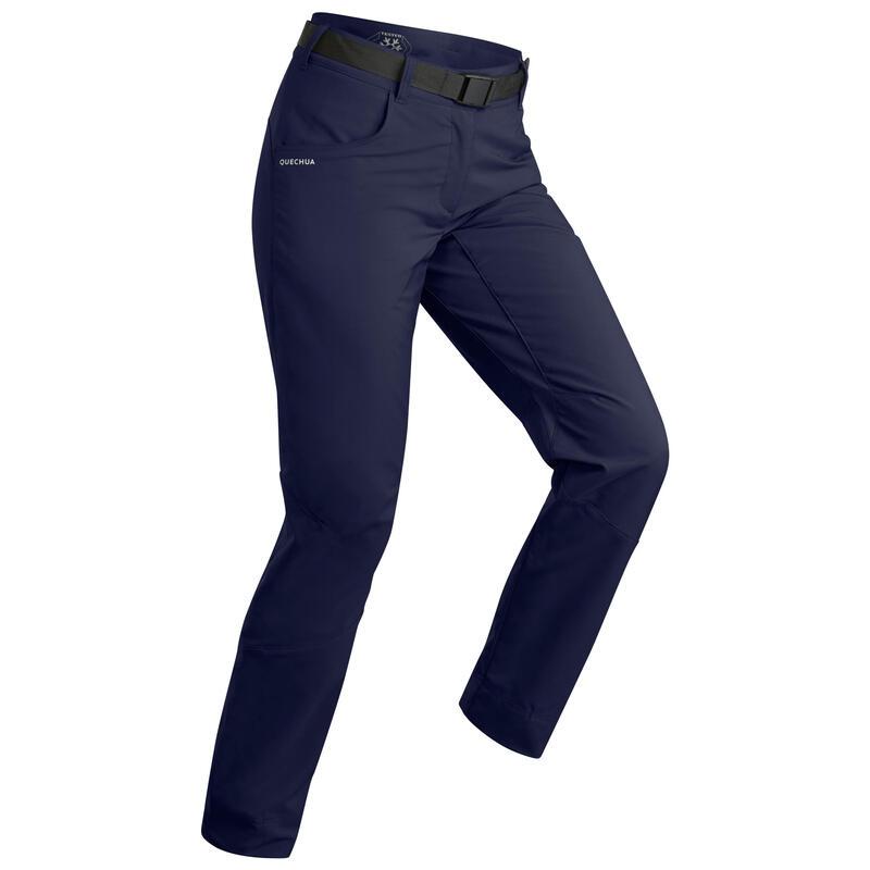 Waterafstotende en warme wandelbroek voor dames SH100 blauw