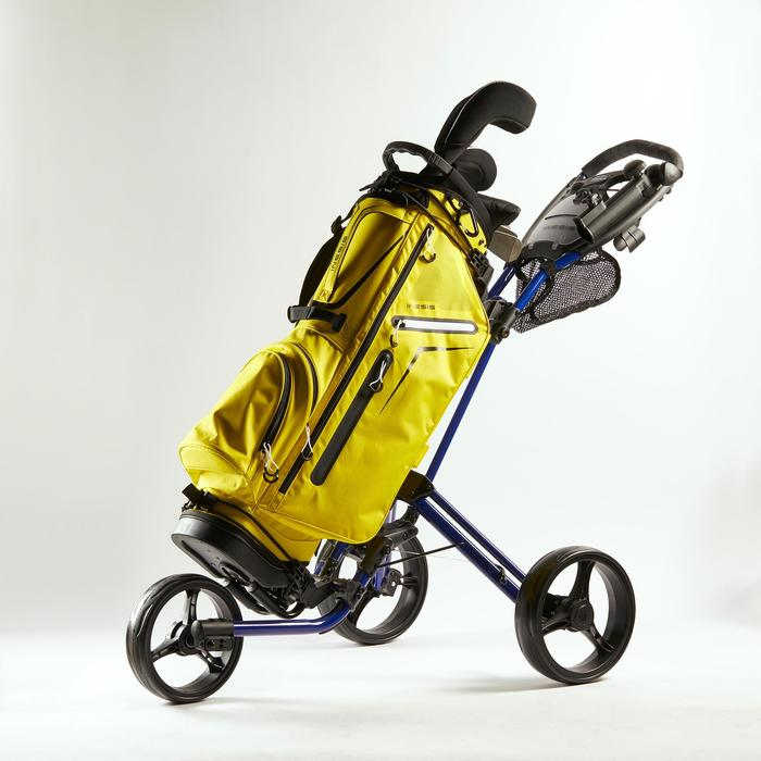 Golftrolley Compact 3-Rad blau