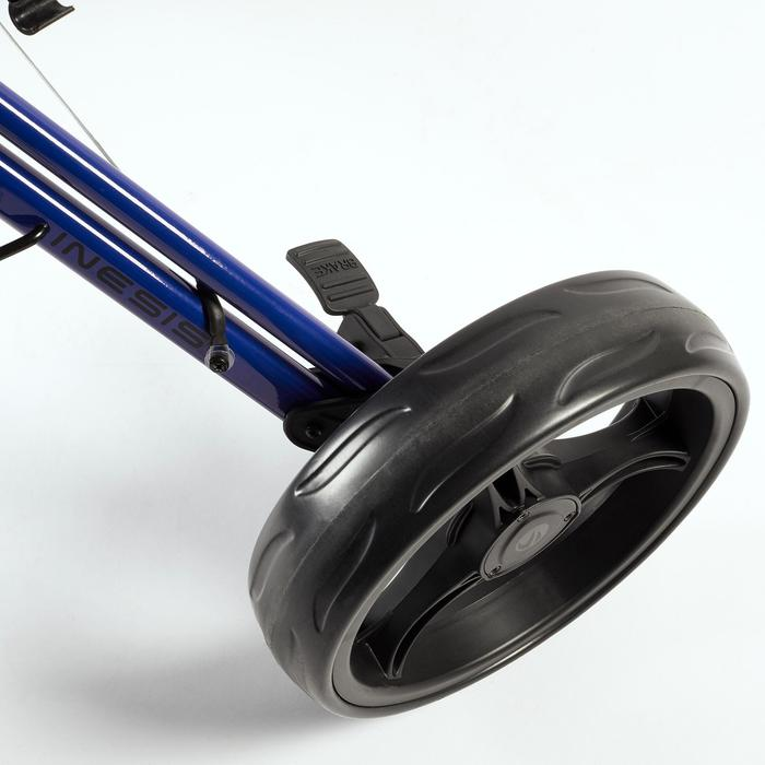 Driewiel golftrolley Compact blauw